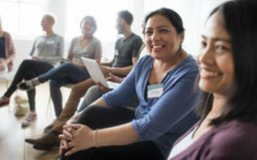 People talking at PHN workshop